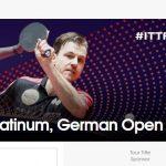 2018 ITTF ワールドツアー プラチナ ドイツオープン 開催 3月22日から25日 張本智和選手出場試合