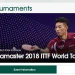 2018 ITTF ワールドツアー プラチナ カタールオープン 開催 3月8日から11日 張本智和選手出場試合