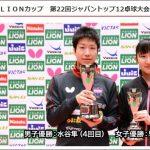 LIONカップ 第22回ジャパントップ12卓球大会 張本智和選手出場試合