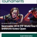 ITTFワールドツアープラチナ・韓国オープン 2018年7月19日から22日まで 張本智和選手出場試合